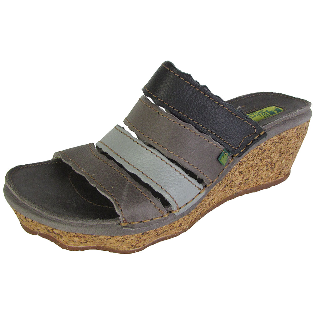 El Naturalista Womens N402 Cork Oak Wedge Sandal Shoes