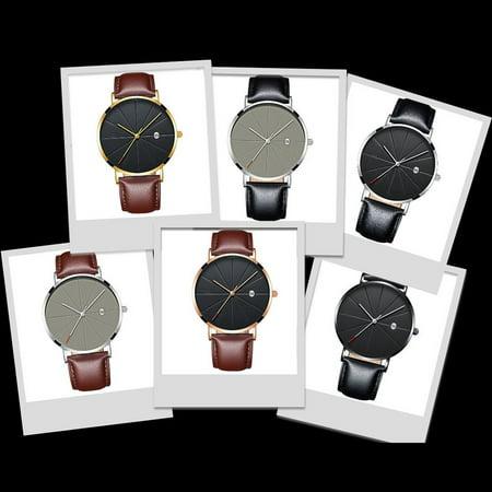 Brand New Fashion Simple Watch Calendar Slim Men'S Business Belt Watch Quartz Watch - image 3 de 6