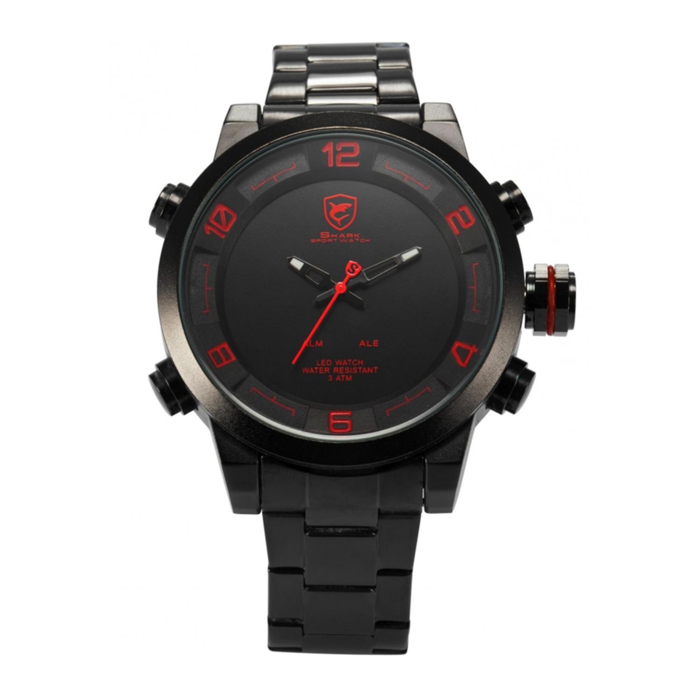 Shark Sport Watch Men's Analog LED Display Alarm Date Day...