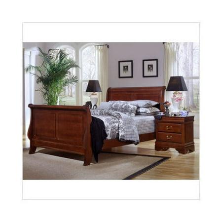 bassett barnburner thirteen cherry sleigh bedroom set