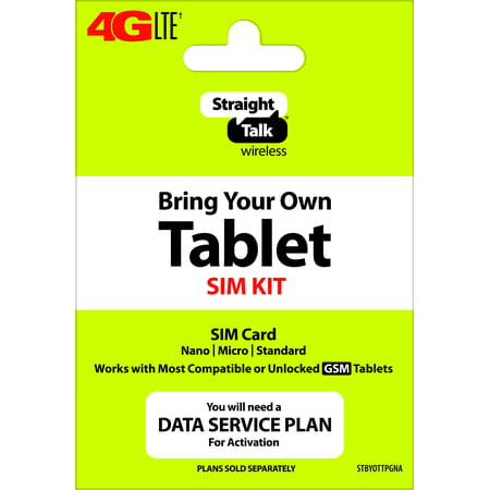 Straight Talk Tablet SIM - GSM - AT&T Compatible ()