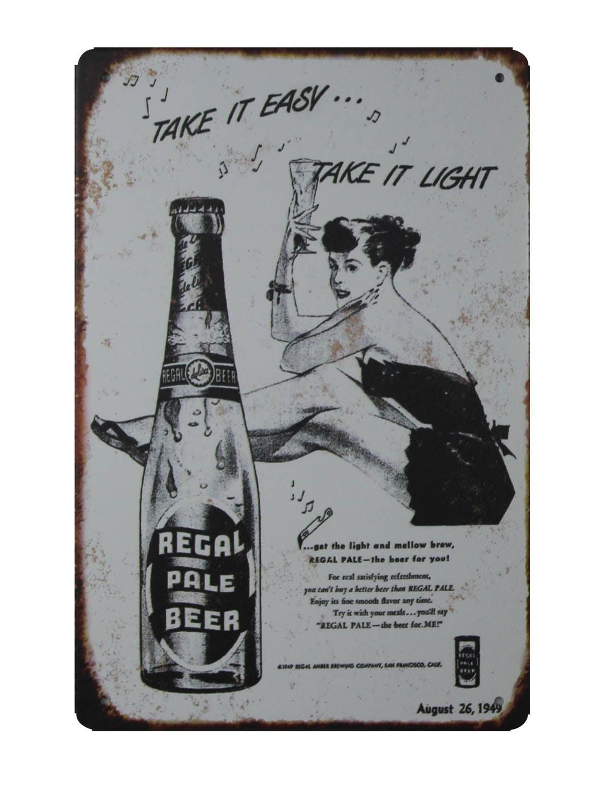Tin Sign XXL Beer Bar Pub  Black bear beer Vintage