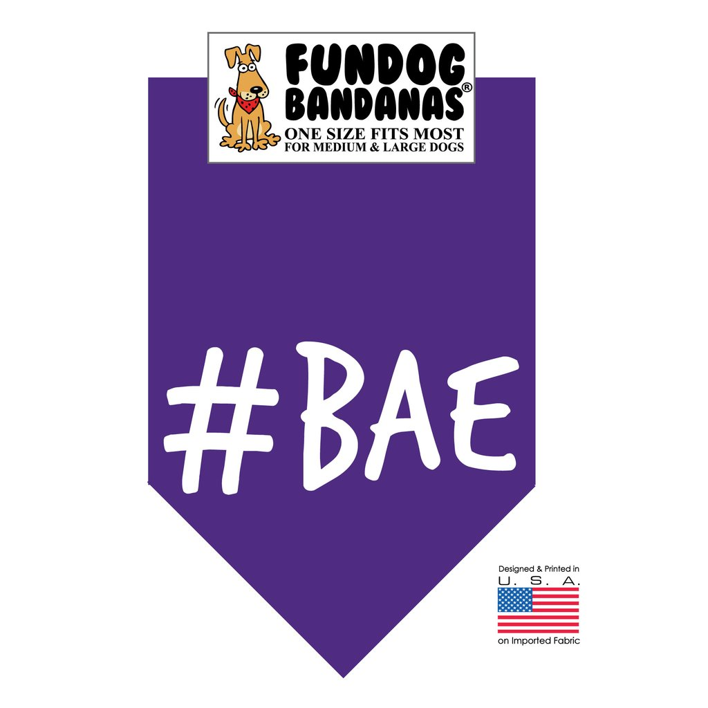 Fun Dog Bandana -#BAE - One Size Fits Most for Medium to Large Dogs, purple pet scarf