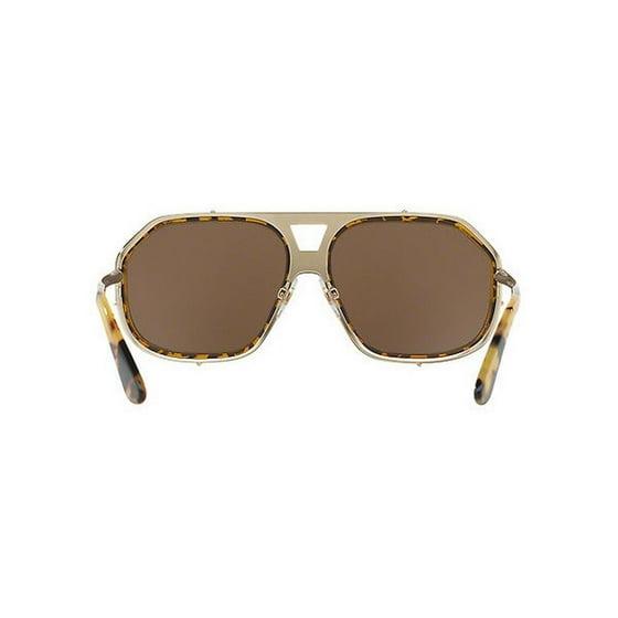 aedb710d29 Dolce   Gabbana - Dolce   Gabbana Men s DG2167 488 F9 61 Aviator Metal  Plastic Brown Sunglasses - Walmart.com
