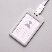 ef8761c52e3 Product Image Portable Colorful Employee Plastic ID Card Holder Name Tag  Lanyard Neck Strap