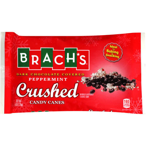 Brach's Dark Chocolate Covered Peppermint Crushed Candy Canes, 6 oz