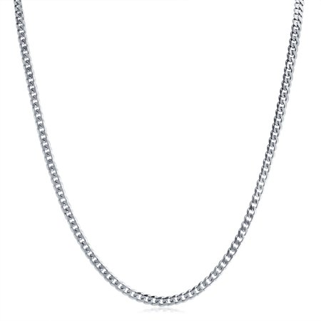 Heavy Solid Curb Cuban Link Chain 150 Gauge For Men Necklace 925 Sterling Silver Made In Italy 20 Inch - image 3 de 4