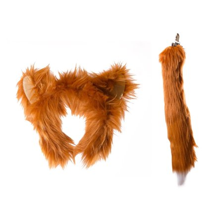 Wildlife Tree Plush Red Fox Ears Headband and Tail Set for Red Fox Costume, Cosplay, Pretend Animal Play or Forest Animal - Fox Ears And Tail Set