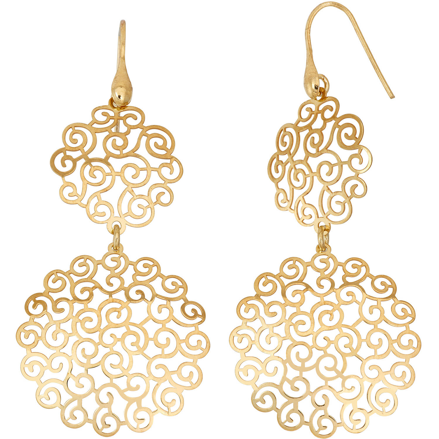 Giuliano Mameli 14kt Gold-Plated Sterling Silver Geometric Shape Cut-Out Dangle Earrings
