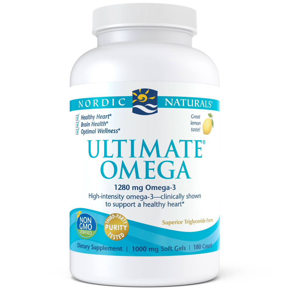 Nordic Naturals Ultimate Omega Softgels, 1280 Mg, 180 Ct