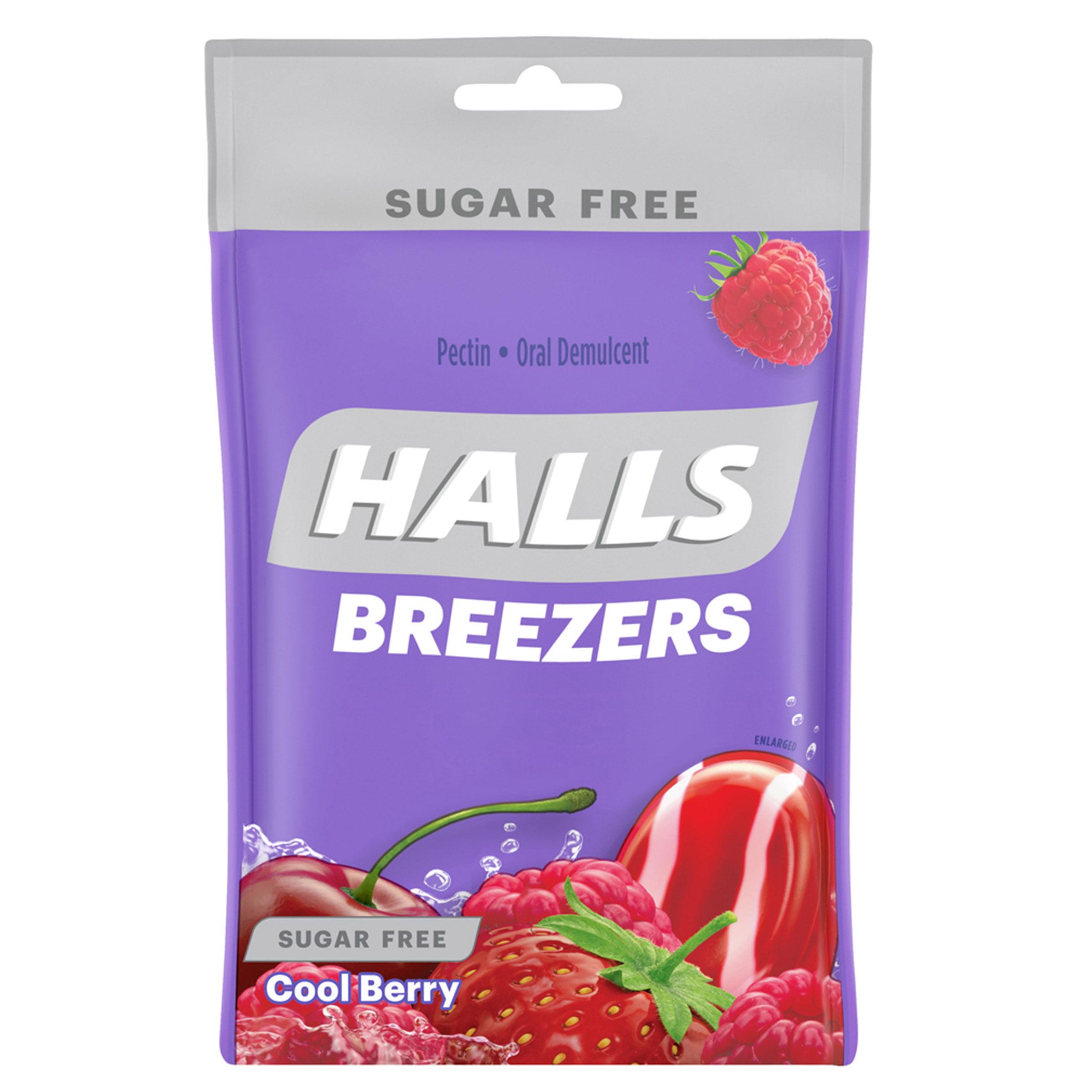 HALLS Breezers Cool Berry Sugar Free