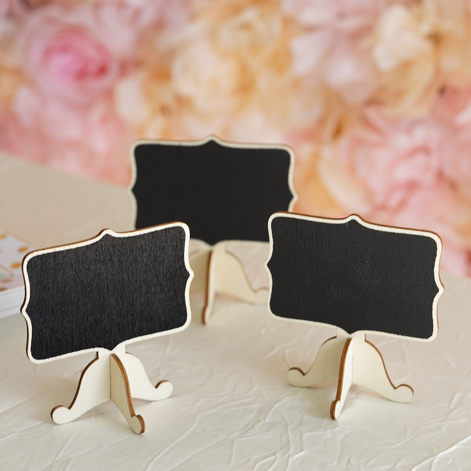 BalsaCircle 10 pcs Black Wood Chalkboards with Removable Stands Wedding Favors Party Event Home Decorations... by