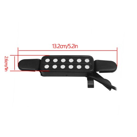 Qiilu 12 transducteurs de captage de trou sonore pour accessoires d'instruments de musique, instruments de musique, transducteurs de guitare, capteurs de guitare - image 2 de 3