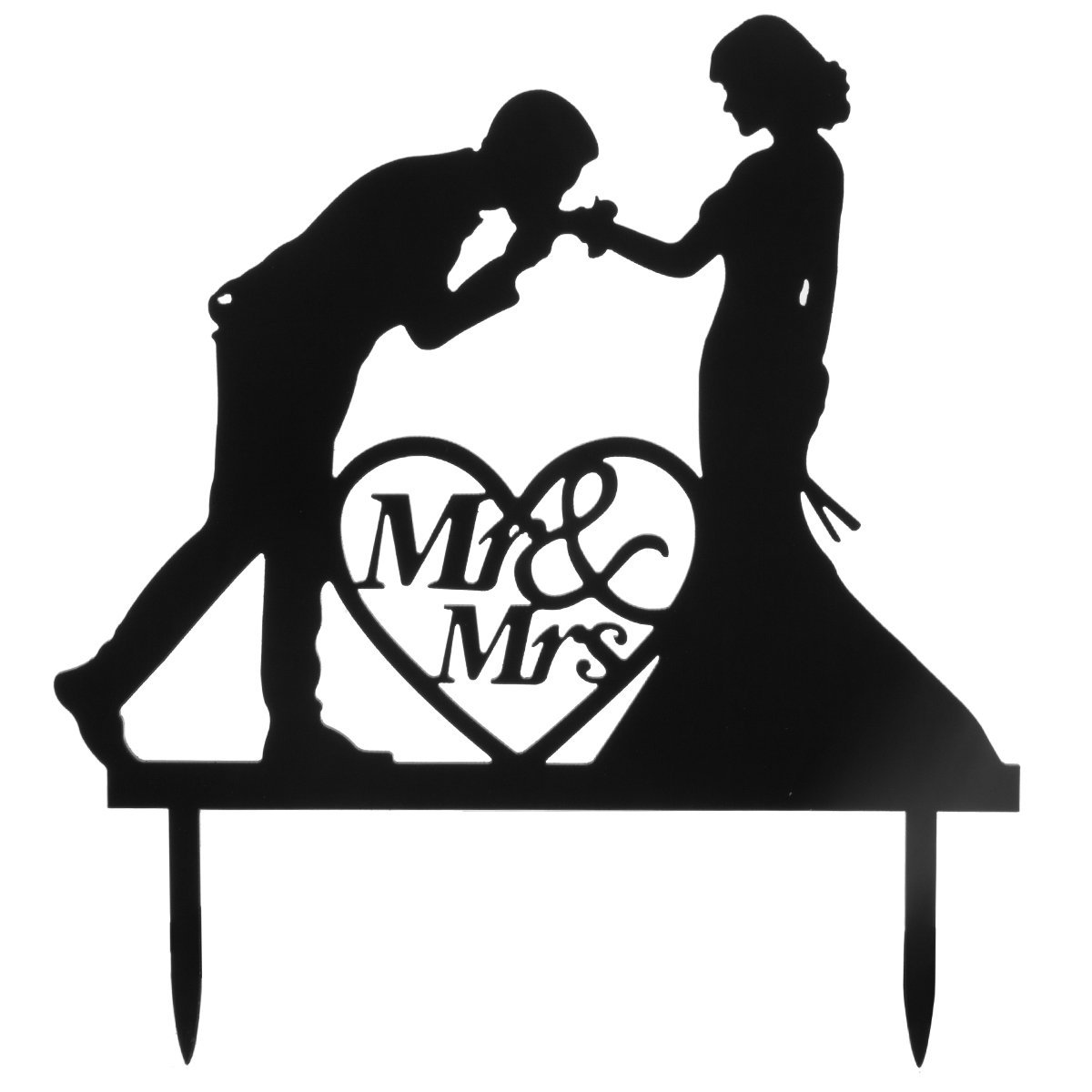 Personalized Bride and Groom Wedding Cake Topper Mr & Mrs Cake Decoration