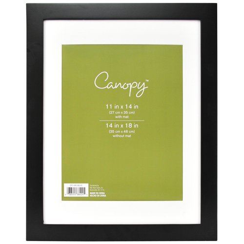 Canopy Flat Gallery Mat, Black