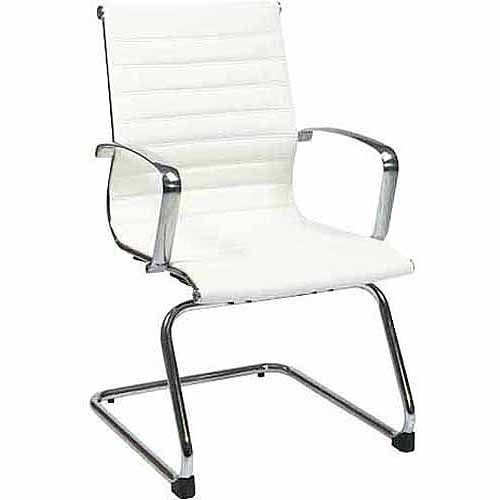 Office Star Armless Mid-Back Eco Leather Guest Chair
