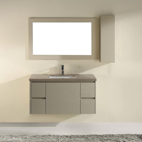 Bauhaus Bath Barros 42'' Single Bathroom Vanity Set with Mirror
