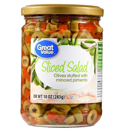 (4 Pack) Great Value Sliced Salad Olives, 10 oz