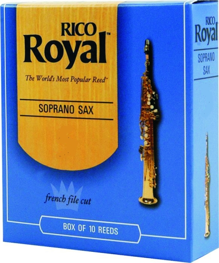 Rico Royal Soprano Saxophone 10 Pack 4 Strength by Rico Royal
