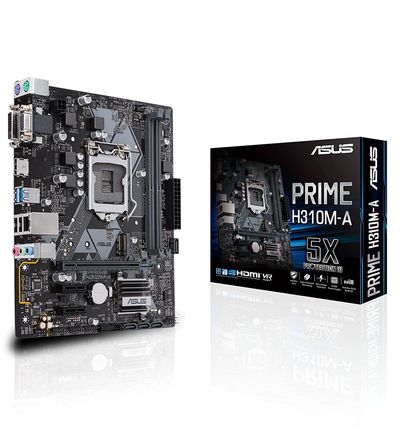 Asus Prime H310M-A Motherboard - PRIME H310M-A