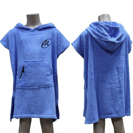 ca0bd84eb2 Lightahead Teens Cotton Surf Beach Hooded Poncho Changing Bath Robe Towel  with Pocket