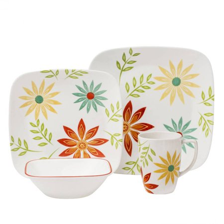 Corelle Squares Happy Days 16-Piece Dinnerware Set