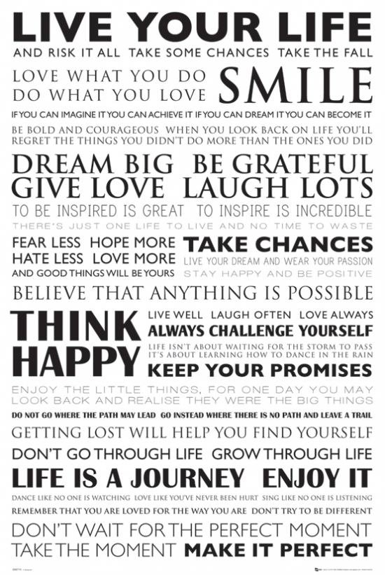 Quotes Live Your Life Poster Print (24 X 36)