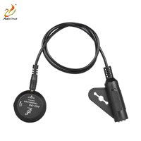 Adeline AD-30 Mini Piezo Pickup Contact Microphone Transducer with 6.35mm Output Plug Tail Nail Clamp for Acoustic Classical Folk Guitar Violin Ukulele