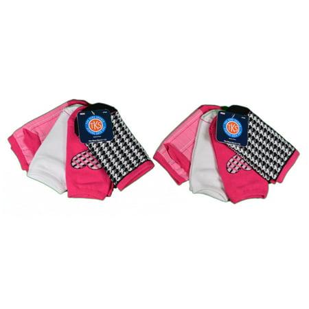 Asst Fashions (Lot of 8 Pairs Kids Source Girls Low Cut Socks Asst Pink Size 6-1 1/2 )