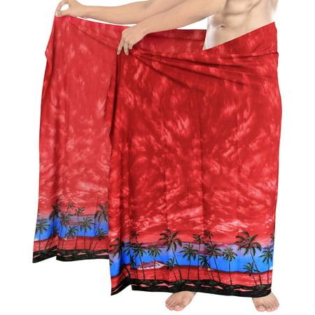 Beach Wear Mens Sarong Pareo Wrap Cover ups Bathing Suit Swimsuit Beach Towel