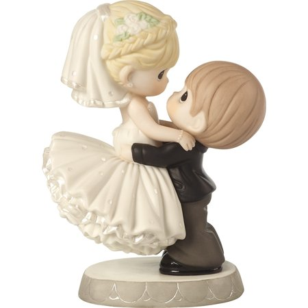 Precious Moments 172007 Best Day Ever - Groom Lifting Bride Wedding Cake Topper Figurine (Precious Moments Heart Cake)