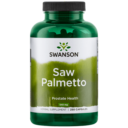 Swanson Saw Palmetto Whole Berry Capsules, 540 mg, 250