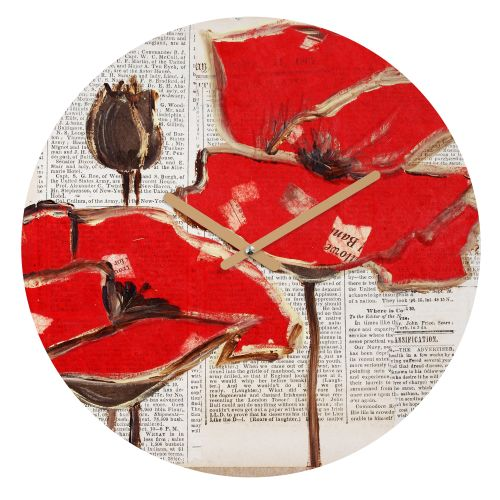 Deny Designs Red Perfection Wall Clock Irena Orlov Round Clock