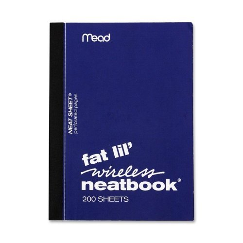 """Mead Neatbook, College Ruled, 200 Sheets, 5-1/2""""x4"""", Assorted 57190"""
