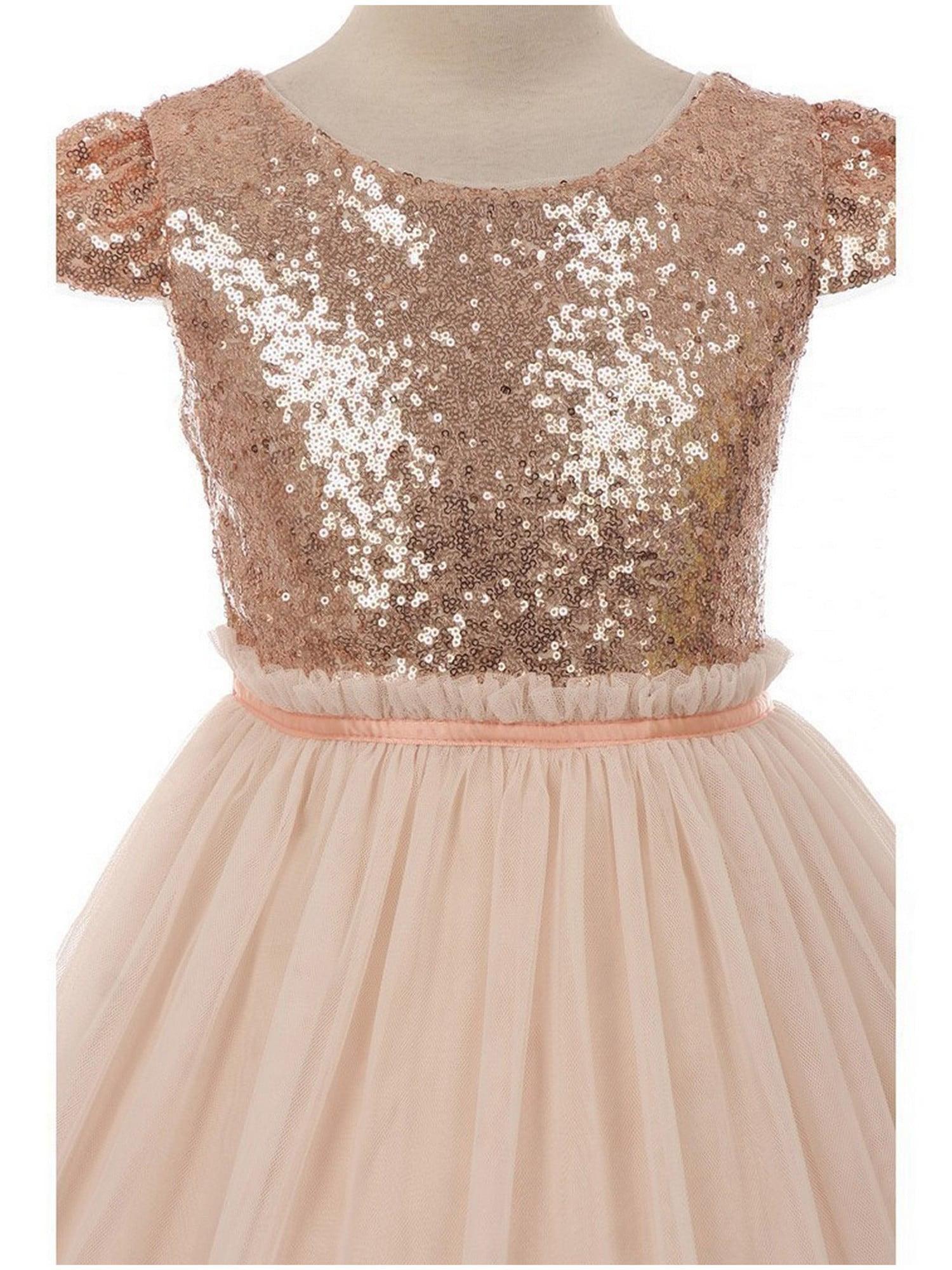 Kids Dream - Kids Dream Girls Blush Sequins Tulle Plus Size ...