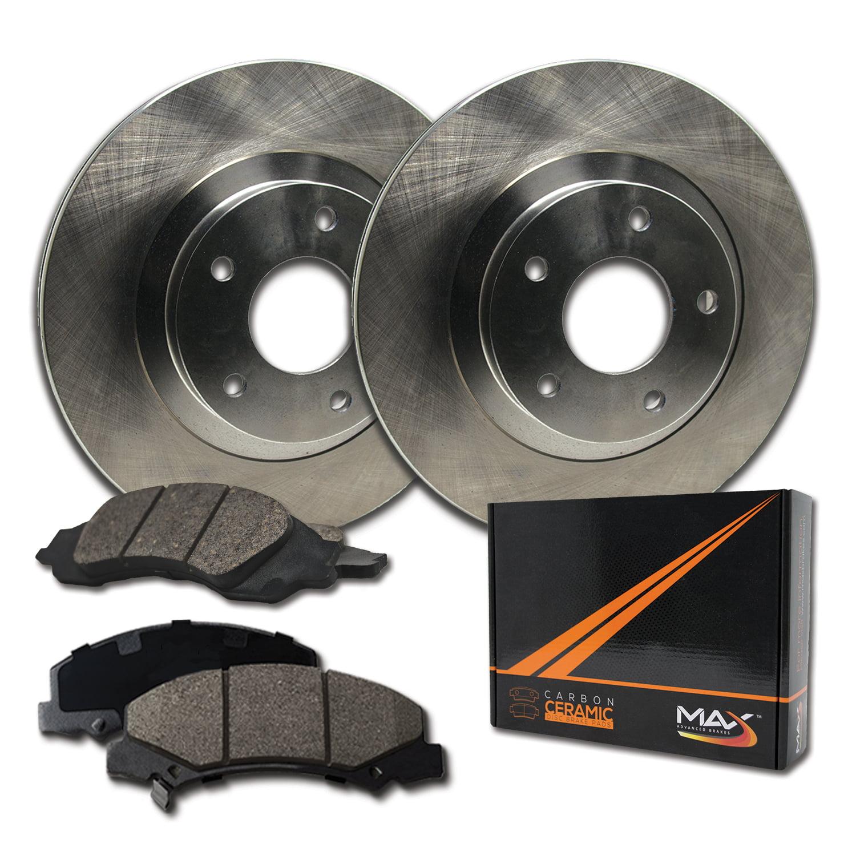 2011 11 2012 12 2013 13 Jeep Wrangler Max Brakes Front Carbon Ceramic Performance Disc Brake Pads KT053151 Fits