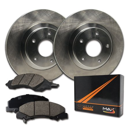 Max Brakes Front Premium Brake Kit [ OE Series Rotors + Ceramic Pads ] KT096841 | Fits: 2006 06 Ford F350 Super Duty 4WD Models w/ Single Rear Wheel - image 8 de 8