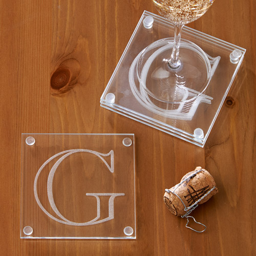 Personalized Letter Perfect Coaster Set