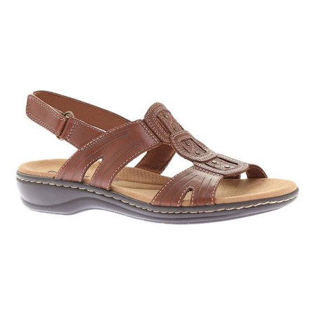 75d49bd6565 Clarks - Womens Clarks Leisa Vine Caged Sling Back Flat Sandals ...