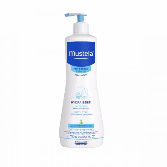Mustela Hydra Bebe Body Lotion, Moisturizing Baby Lotion with Natural Avocado Perseose, 25.3 Oz by Mustela