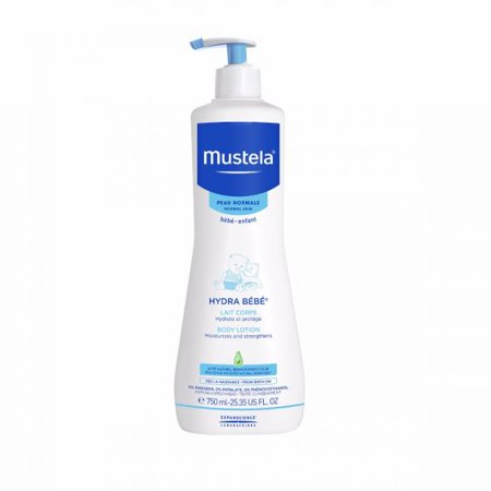 Mustela Hydra Bebe Body Lotion, Moisturizing Baby Lotion, 25.3 Oz