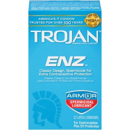 Trojan ENZ Spermicidal Condoms, - Trojan Warrior