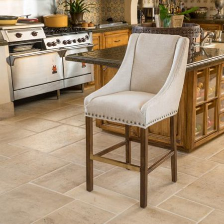 Christopher Knight Home James Fabric Bar Stool By