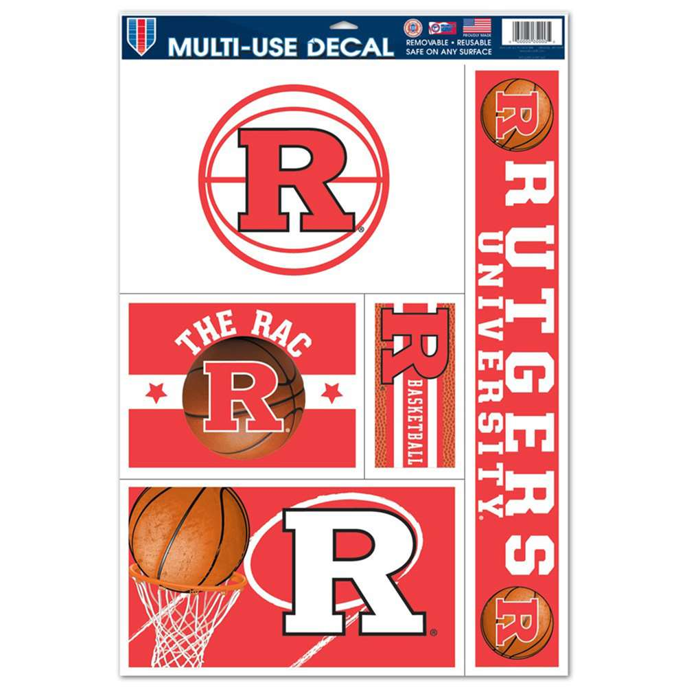 "Rutgers Scarlet Knights Multi-Use Decal Sheet - 11"" x 17"""