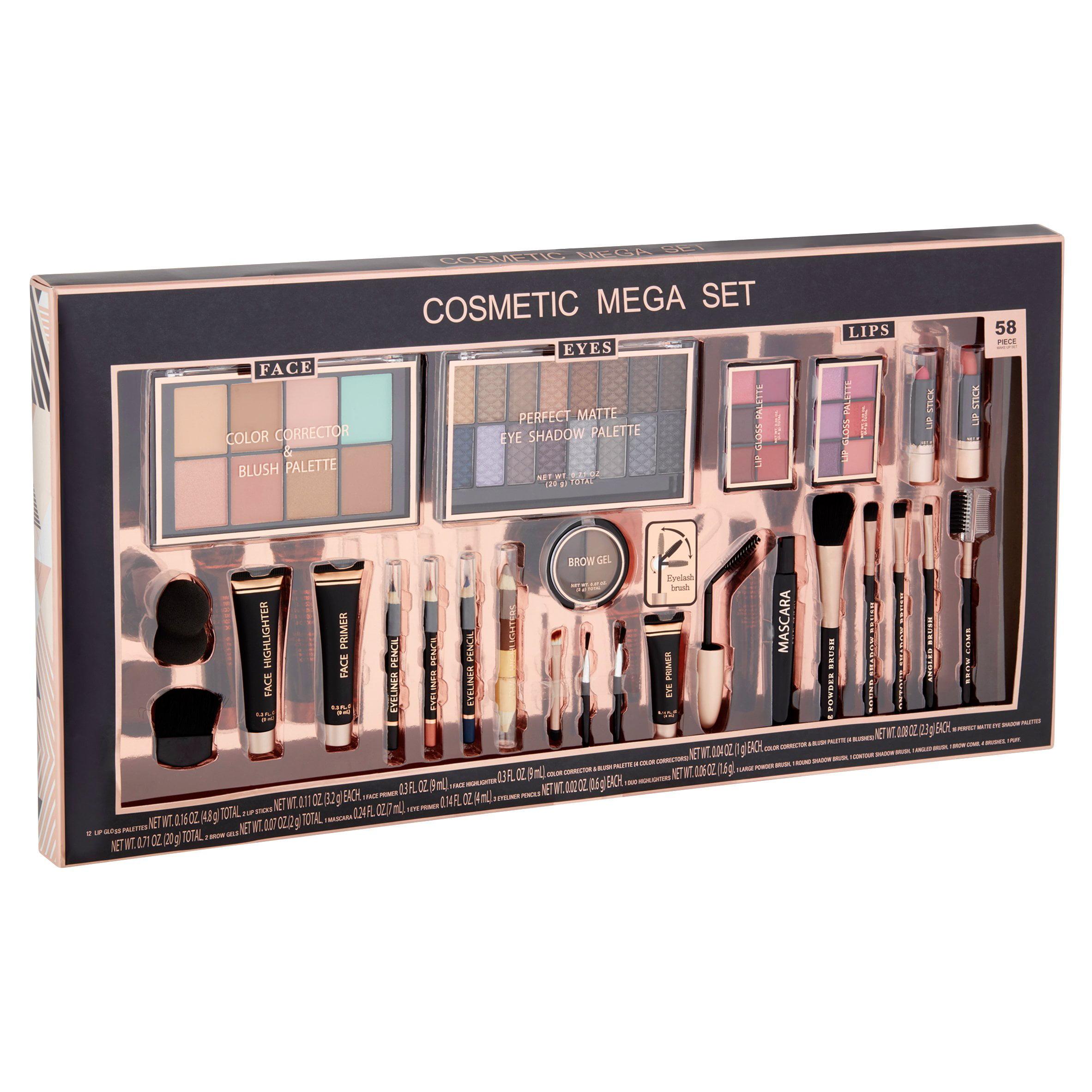 Cosmetic Mega Set, 58 piece - Walmart.com