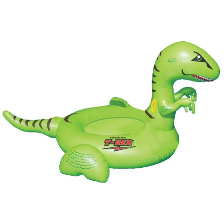 Giant Inflatable T Rex (Swimline Vinyl Kids Giant Rideable Dinosaur Inflatable Pool Float,)