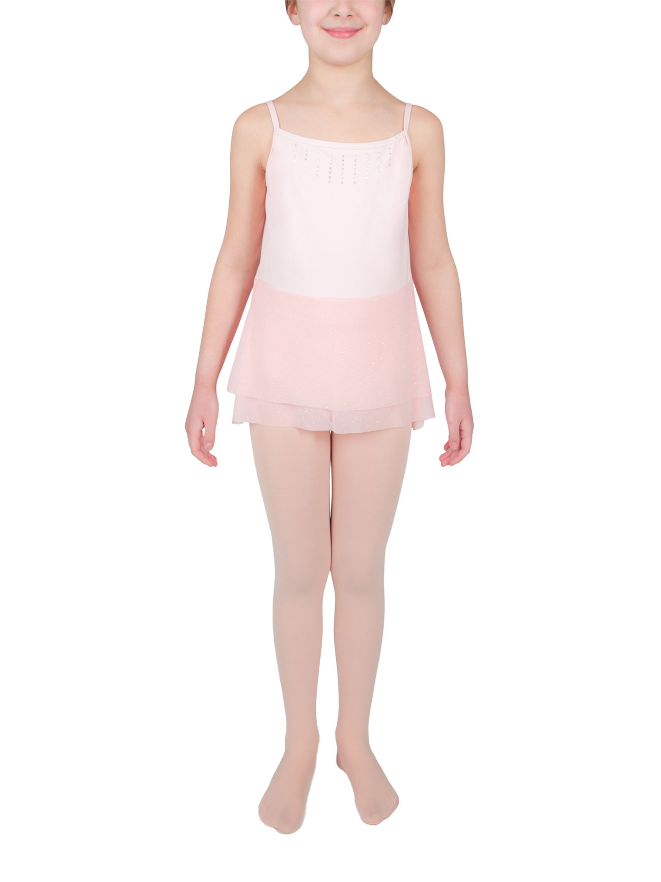 Girl's Mesh Skirt Leotard