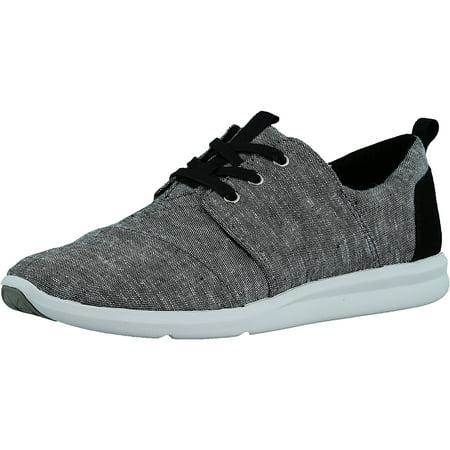 5f3f5126e9c Toms - Toms Women s Del Rey Chambray Black Slub Ankle-High Canvas Fashion  Sneaker - 9.5M - Walmart.com