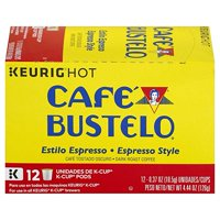 Cafe Bustelo Espresso Style K-Cup Pods, for Keurig Brewers, 12 Count