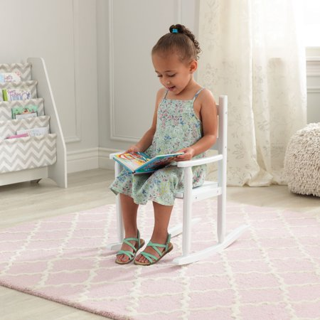 KidKraft Classic Wooden Rocking Chair, White Adult Princess Rocking Chair